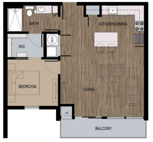 1 Bed / 1 Bath / 750 sq ft / Deposit: $400
