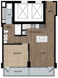 1 Bed / 1 Bath / 600 sq ft / Deposit: $400