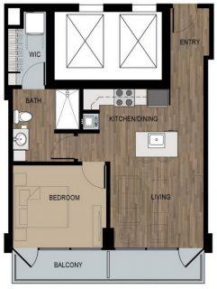 1 Bed / 1 Bath / 600 sq ft / Deposit: $400