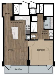1 Bed / 1 Bath / 570 sq ft / Deposit: $400