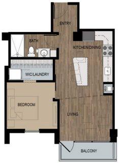 1 Bed / 1 Bath / 550 sq ft / Deposit: $400